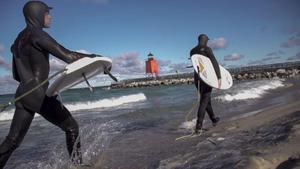 Lake Michigan Surfing