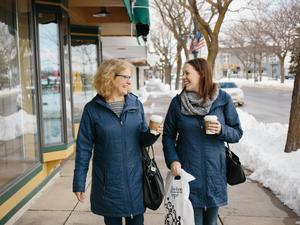 Winter Shopping in Downtown Charlevoix