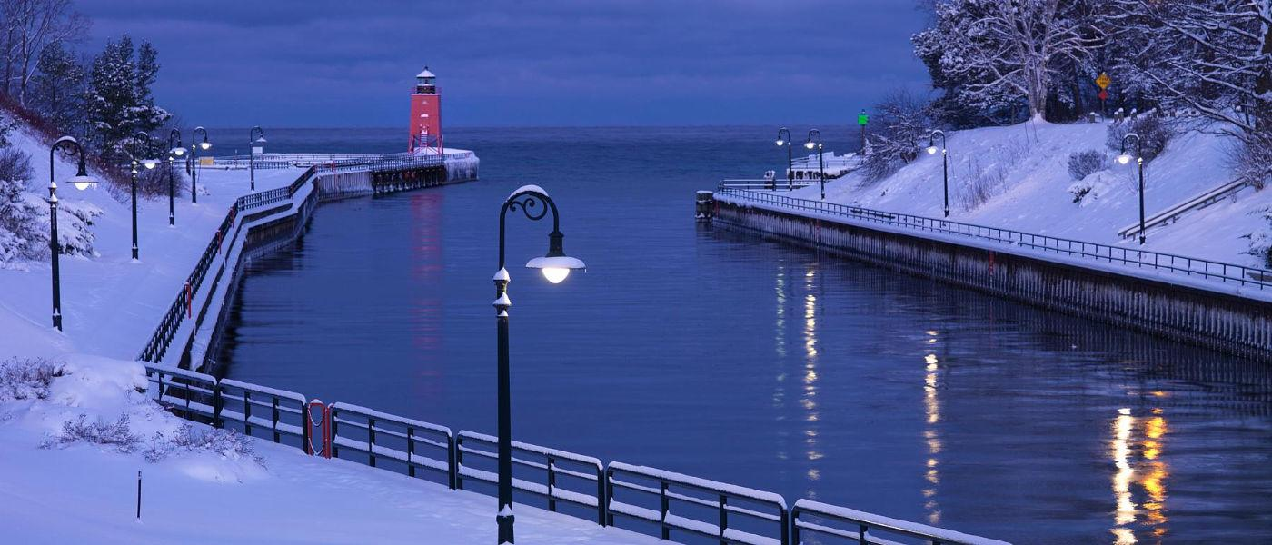 Snowy Channel (Mike Schlitt- Charlevoix Photography Club)