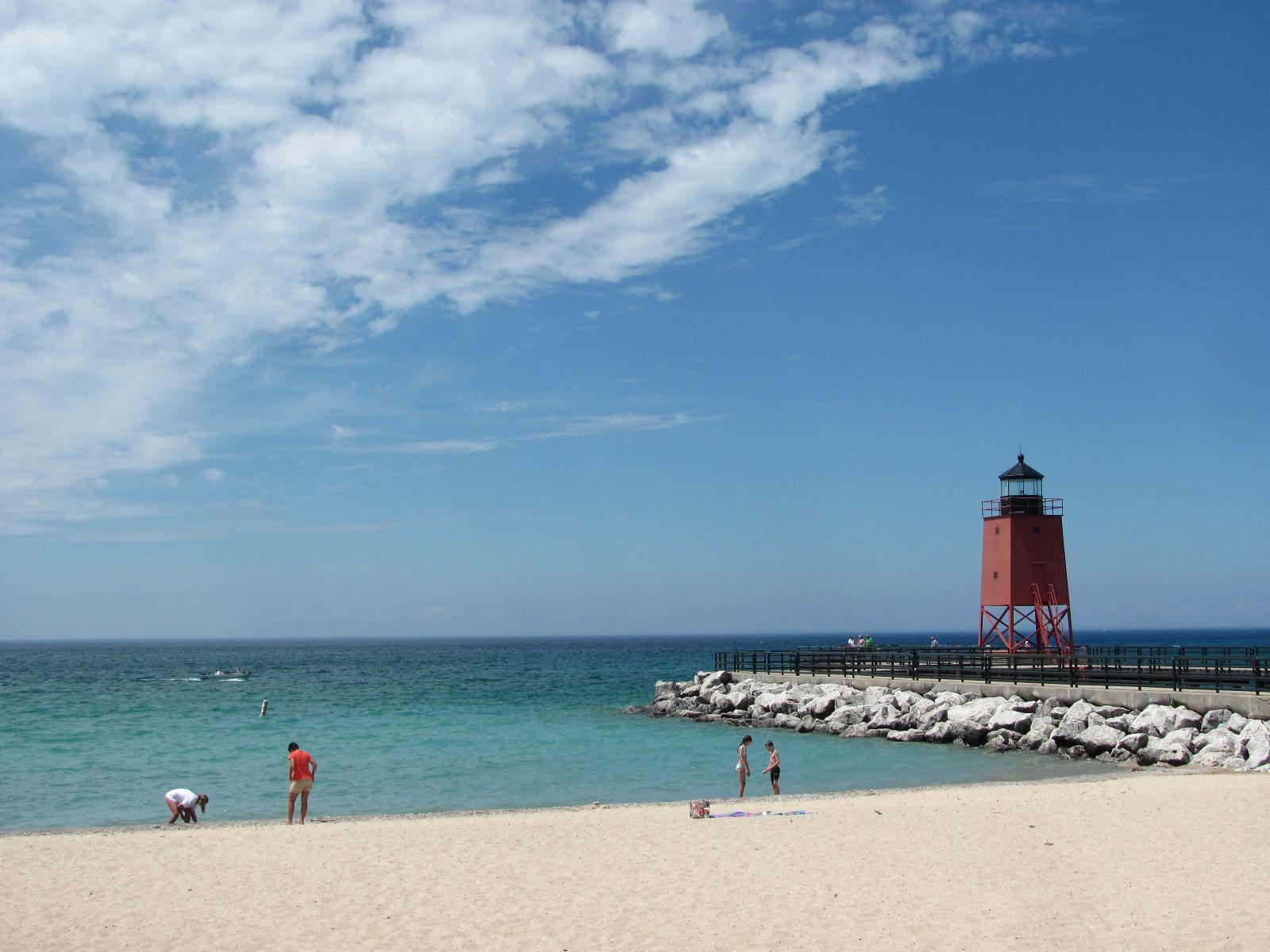 Charlevoix Michigan Boasts Some Of The Best Beaches Found On Great Lakes Located Ss Lake And Has